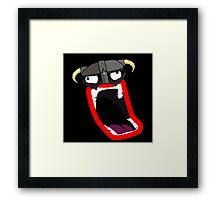EPIC SHOUT Framed Print