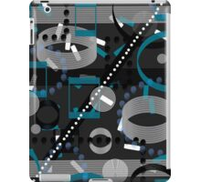 Turquoise Black Vector Abstract Pattern  iPad Case/Skin