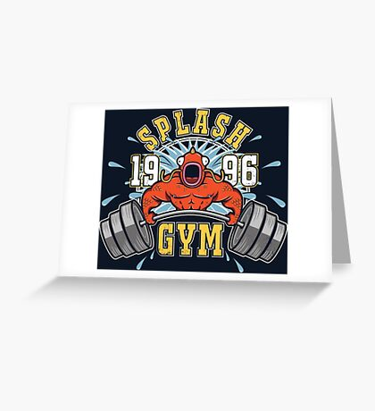 Splash Gym Greeting Card