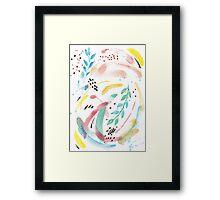 Watercolor Spring Flow Framed Print