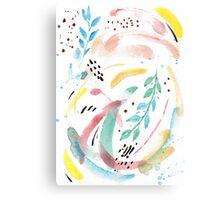 Watercolor Spring Flow Canvas Print