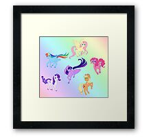 Mane 6 - All Together Now Framed Print