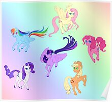 Mane 6 - All Together Now Poster