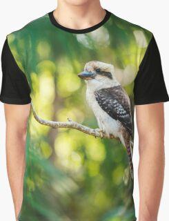 Kookaburra gracefully sitting in a tree Graphic T-Shirt