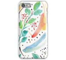 Watercolor Spring Garden iPhone Case/Skin