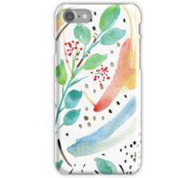 Watercolor Spring Garden iPhone Case/Skin