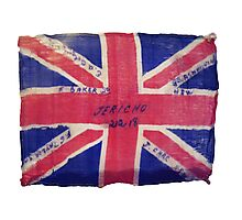 My Grandpa's Flag from WW1 1918 3rd Light Horse Photographic Print