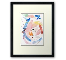 Spring Swallow, Abstract Painting Framed Print