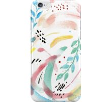 Watercolor Spring Flow iPhone Case/Skin
