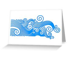 Surfs up pattern Greeting Card
