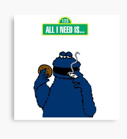 ALL I NEED IS PARODY Canvas Print