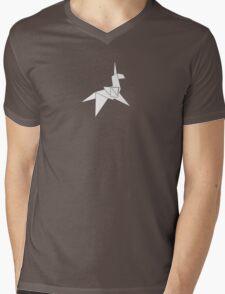 Origami Unicorn Mens V-Neck T-Shirt