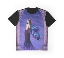 Mystique Galaxy Wing Fairy Graphic T-Shirt