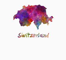 Switzerland in watercolor Unisex T-Shirt
