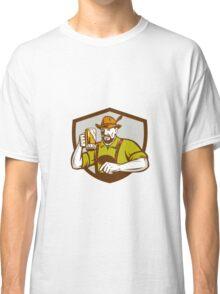 Oktoberfest Bavarian Beer Drinker Shield Retro Classic T-Shirt