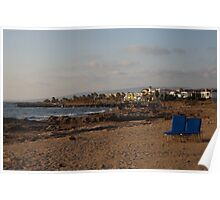 Beach in Paphos, Cyprus Poster