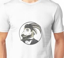 Goat Beard Tie Tuxedo Circle Drawing Unisex T-Shirt