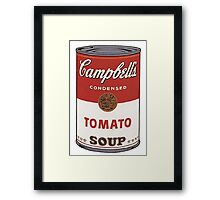 andy warhol campbell's soup Framed Print
