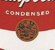 andy warhol campbell's soup Sticker