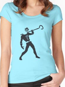 Riddler Women's Fitted Scoop T-Shirt