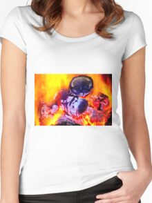 bright flame of fire Women's Fitted Scoop T-Shirt