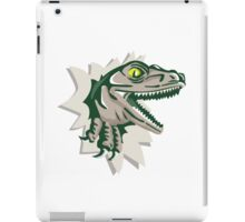 Raptor Head Breaking Out Wall Retro iPad Case/Skin