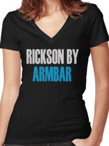 Rickson By Armbar (Brazilian Jiu Jitsu) Women's Fitted V-Neck T-Shirt