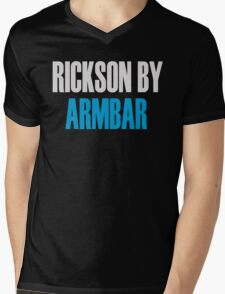 Rickson By Armbar (Brazilian Jiu Jitsu) Mens V-Neck T-Shirt