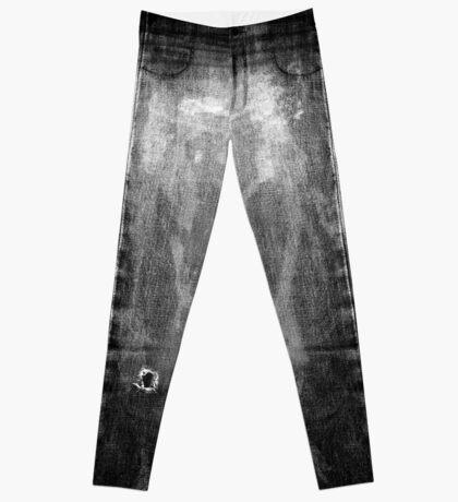 bleached Jeans Leggings