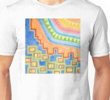 Striped Bungalows in the bright Sunlight Unisex T-Shirt