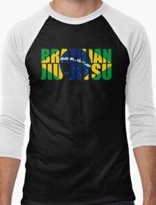 Brazilian Jiu Jitsu Flag (BJJ) Men's Baseball ¾ T-Shirt