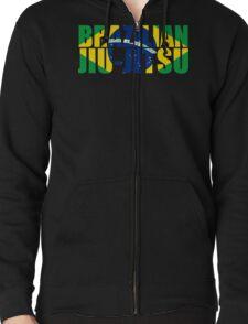 Brazilian Jiu Jitsu Flag (BJJ) Zipped Hoodie
