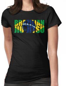 Brazilian Jiu Jitsu Flag (BJJ) Womens Fitted T-Shirt