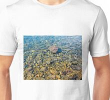 Clear water forest lake Unisex T-Shirt