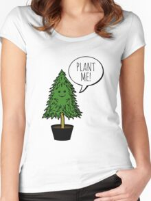 Plant More Trees Women's Fitted Scoop T-Shirt