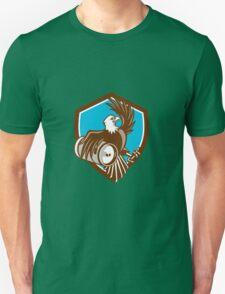 American Bald Eagle Beer Keg Crest Retro Unisex T-Shirt