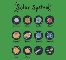 Solar System Planets Kids Tee
