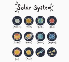 Solar System Planets One Piece - Long Sleeve