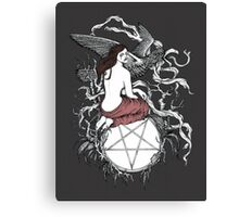 Satan Girl Canvas Print