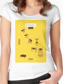 Stool Chart Women's Fitted Scoop T-Shirt
