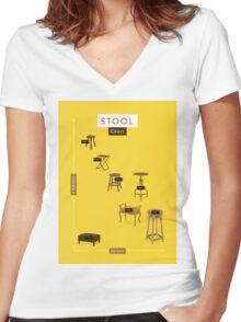 Stool Chart Women's Fitted V-Neck T-Shirt