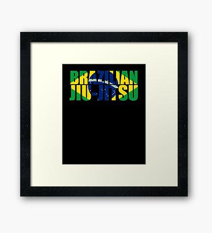 Brazilian Jiu Jitsu Flag (BJJ) Framed Print