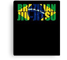 Brazilian Jiu Jitsu Flag (BJJ) Canvas Print