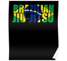 Brazilian Jiu Jitsu Flag (BJJ) Poster