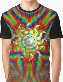 Psychedelic RAINBOW ENERGY Graphic T-Shirt
