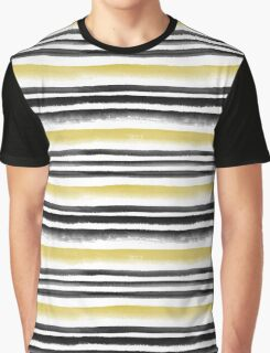 Black and gold watercolor stripes Graphic T-Shirt