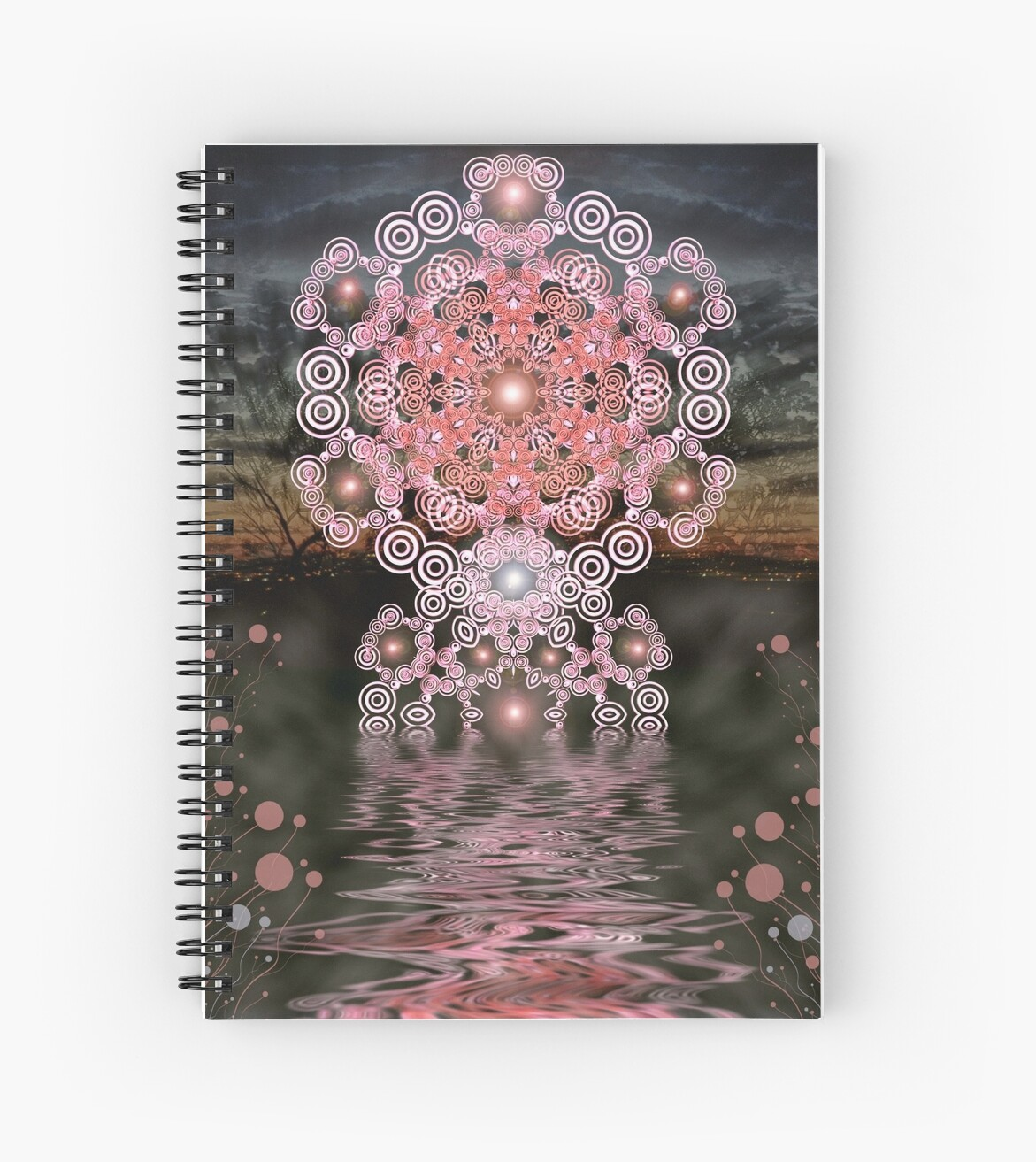 Pink Sunset Geometry Mandala by webgrrl