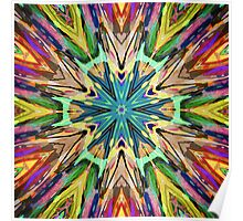 Colorful Textural Abstract Poster