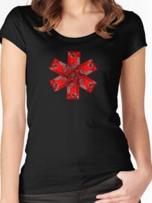 VW RED CROSS Women's Fitted Scoop T-Shirt