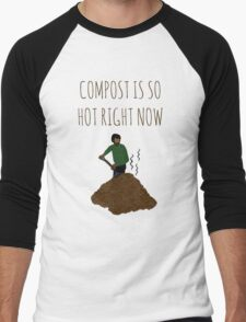 Compost Is So Hot Right Now Men's Baseball ¾ T-Shirt